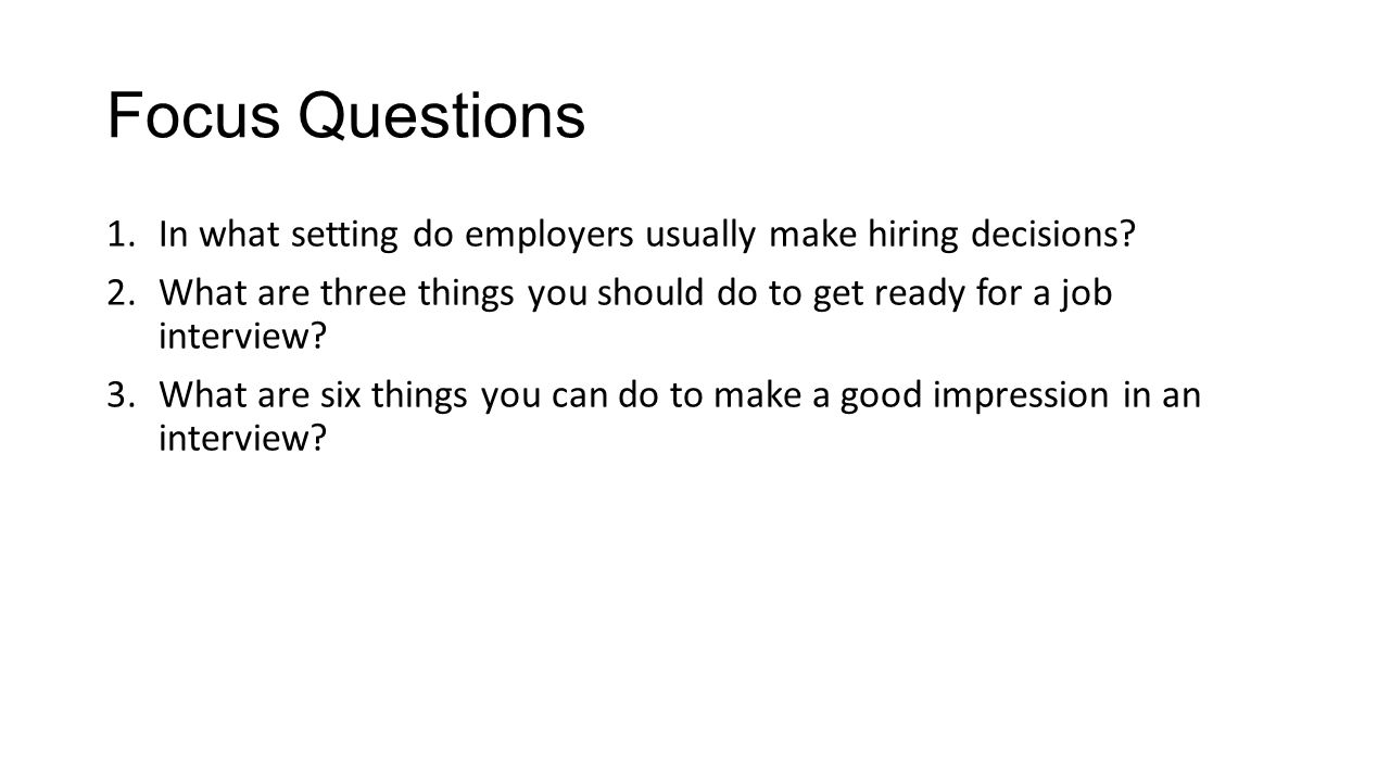 essay questions for a job interview Be prepared (develop a list of questions to be utilized for all applicants in the same job) ask open-ended questions sample interview questions.