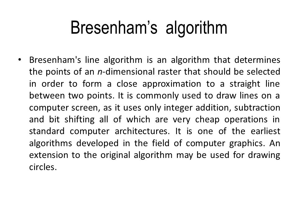Bresenham S Line Drawing Algorithm Logic : Coordinate frames the origin of frame
