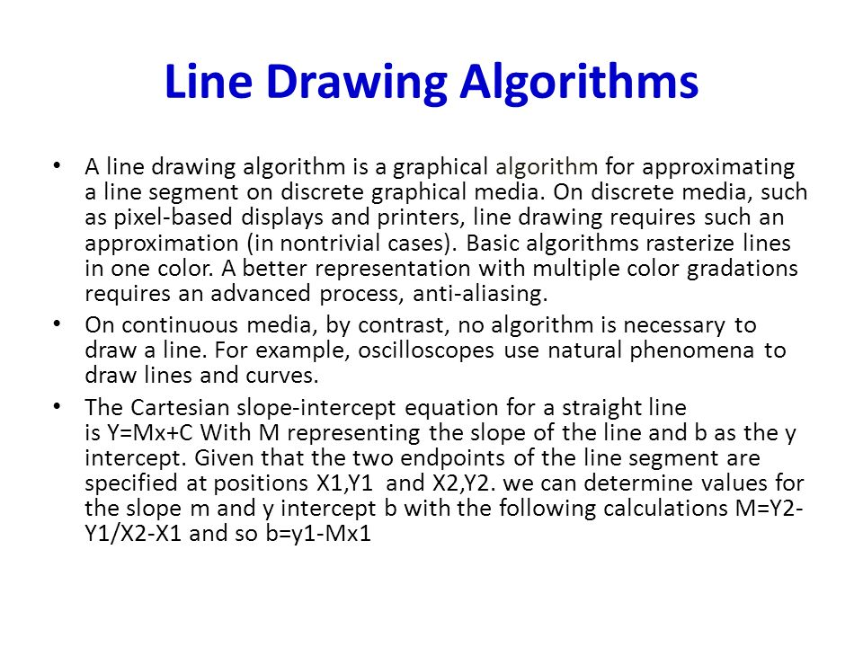 Breshman Line Drawing Algorithm Example : Coordinate frames the origin of frame