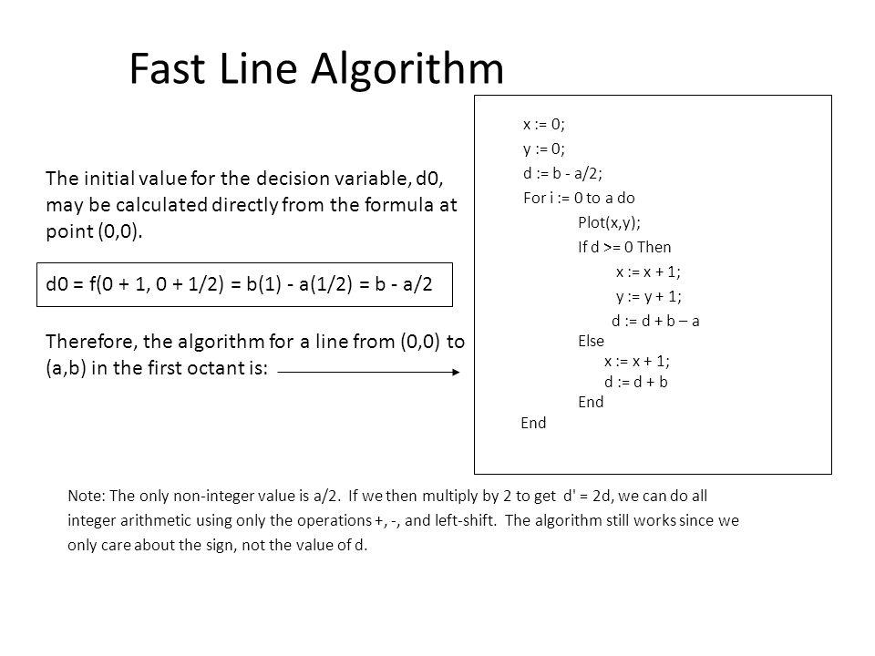Bresenham Line Drawing Algorithm For All Octants : Coordinate frames the origin of frame