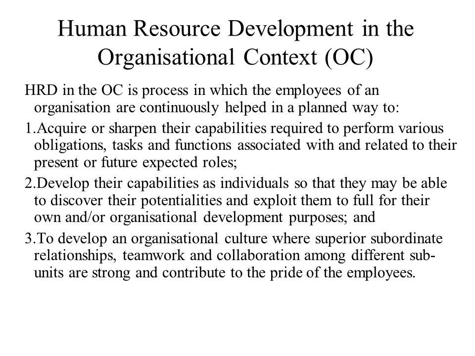 human resource development and organisational perfomance Organizational behavior and human resource management organizational behavior and human decision processes: human resource development review.