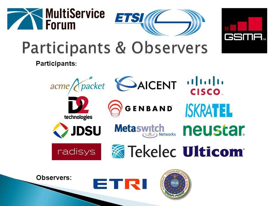 Participants & Observers