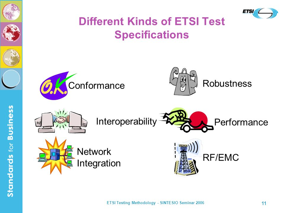 Different Kinds of ETSI Test Specifications