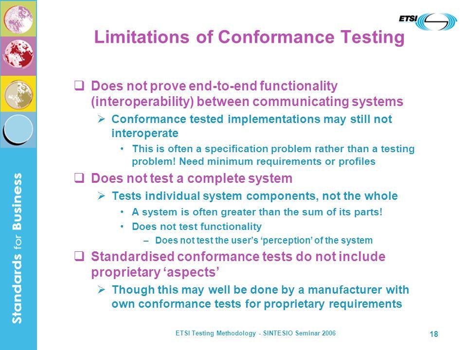 Limitations of Conformance Testing
