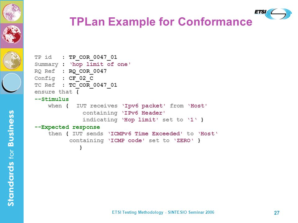 TPLan Example for Conformance