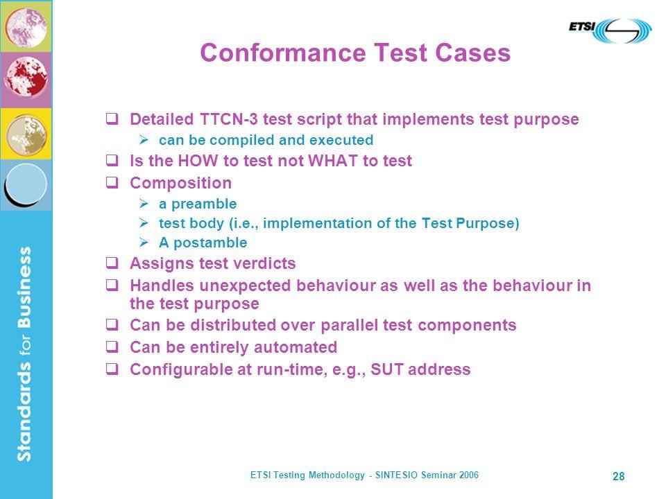 Conformance Test Cases