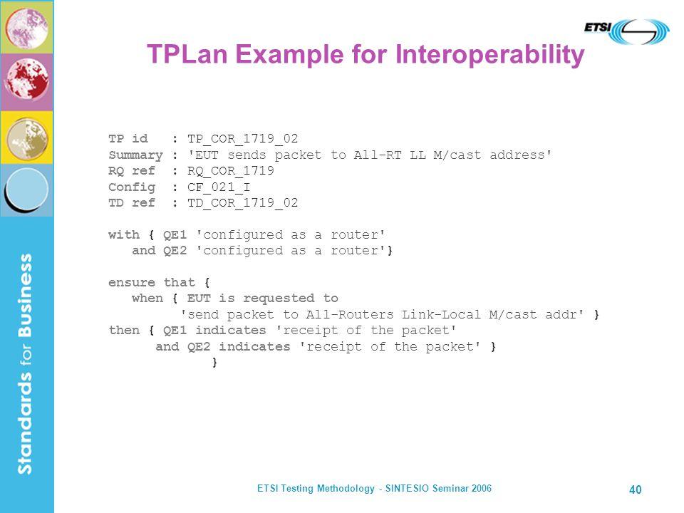 TPLan Example for Interoperability