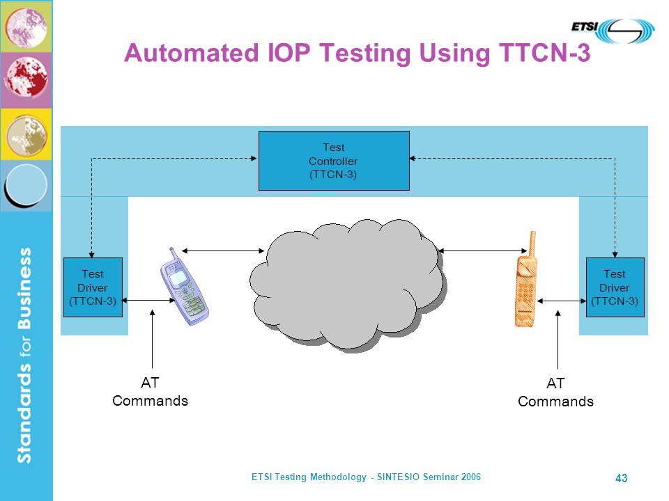 Automated IOP Testing Using TTCN-3