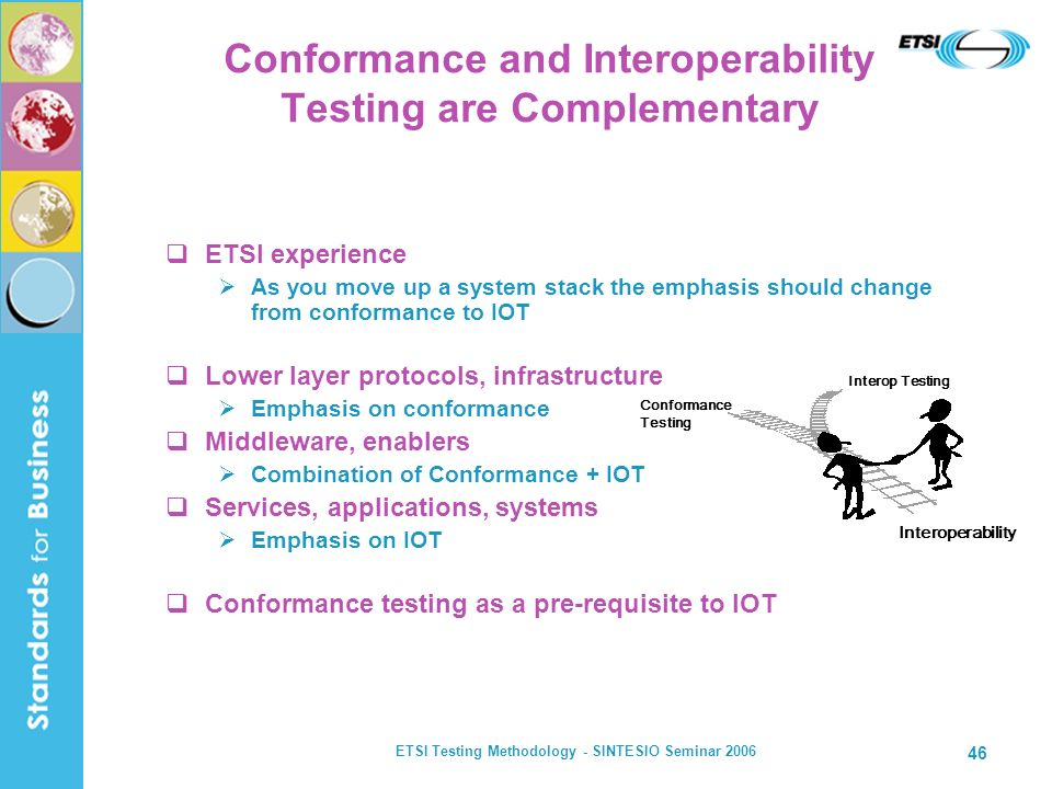 Conformance and Interoperability Testing are Complementary
