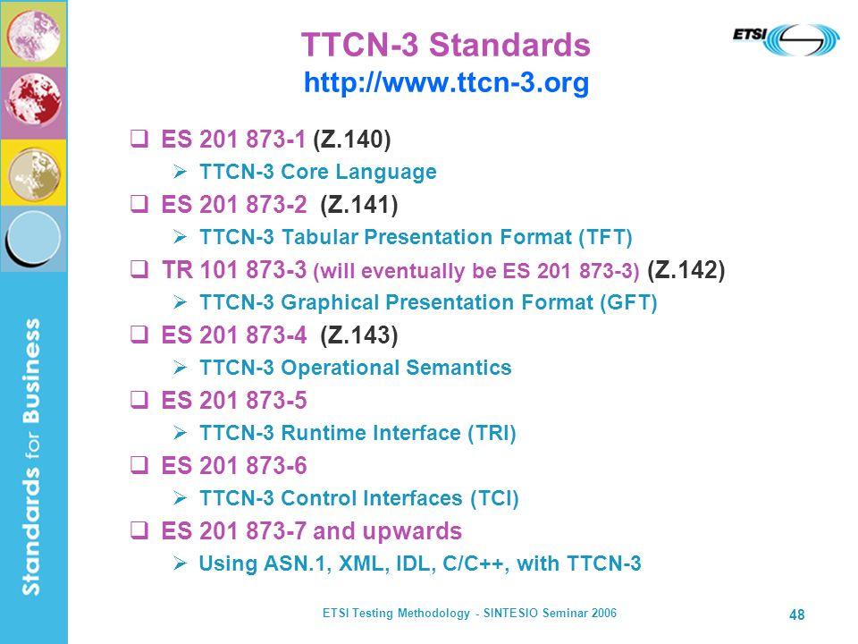 TTCN-3 Standards http://www.ttcn-3.org