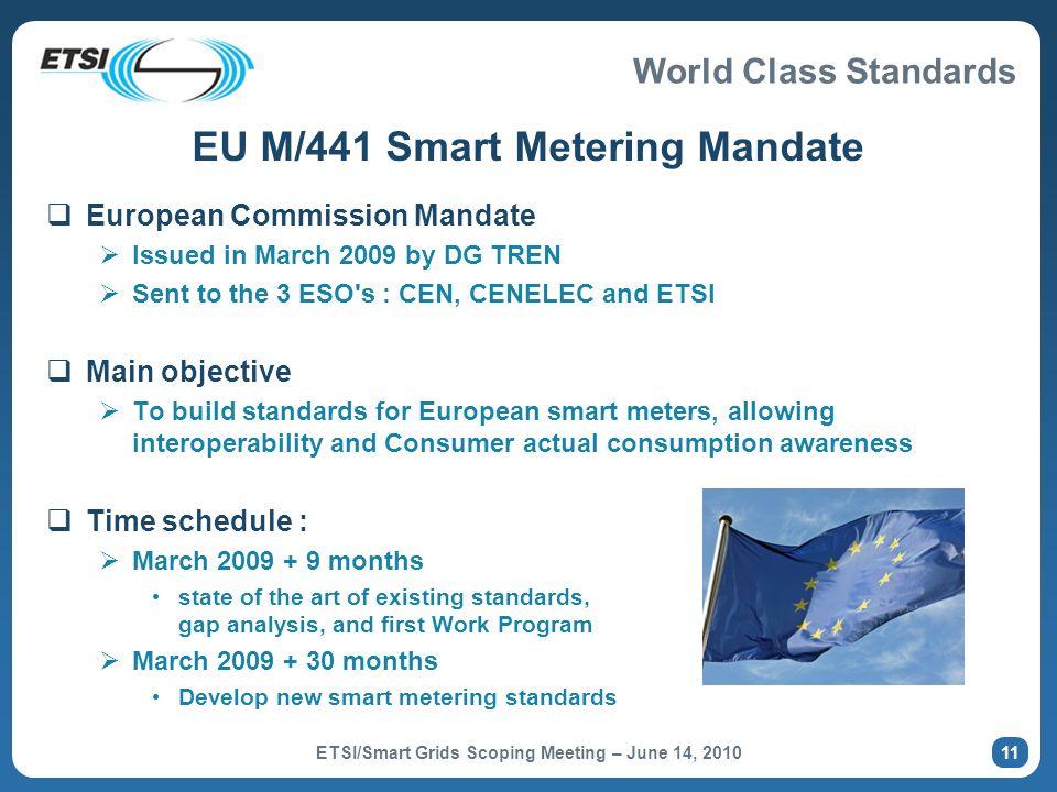 EU M/441 Smart Metering Mandate