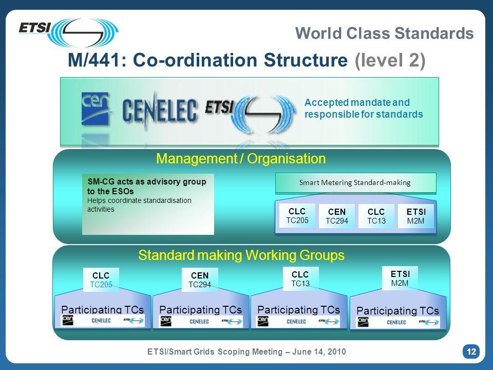 M/441: Co-ordination Structure (level 2)