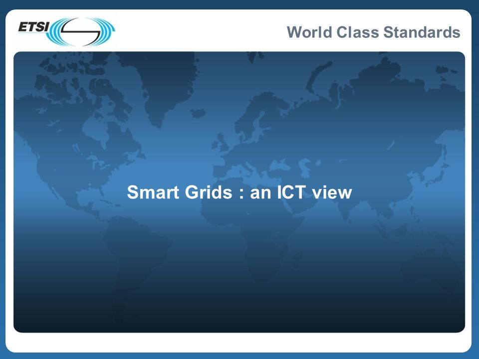 Smart Grids : an ICT view