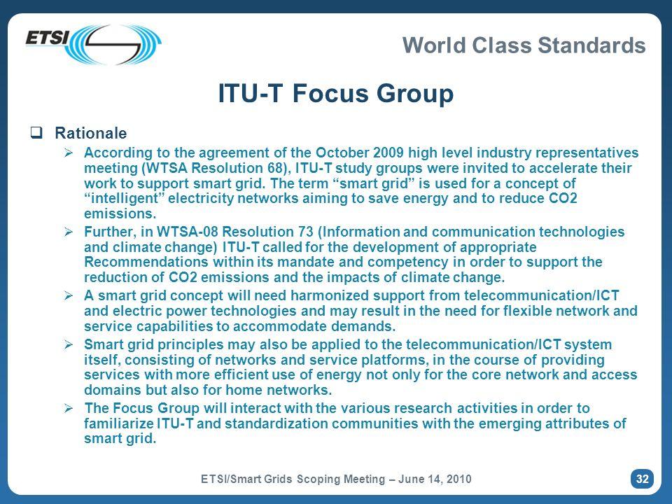 ETSI/Smart Grids Scoping Meeting – June 14, 2010