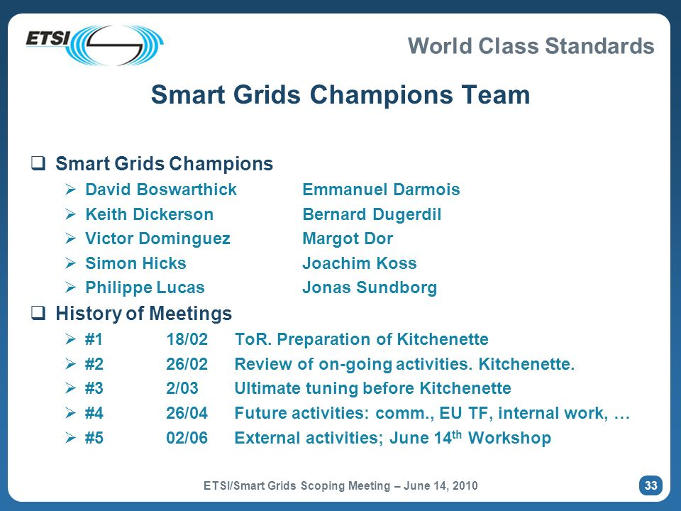 Smart Grids Champions Team
