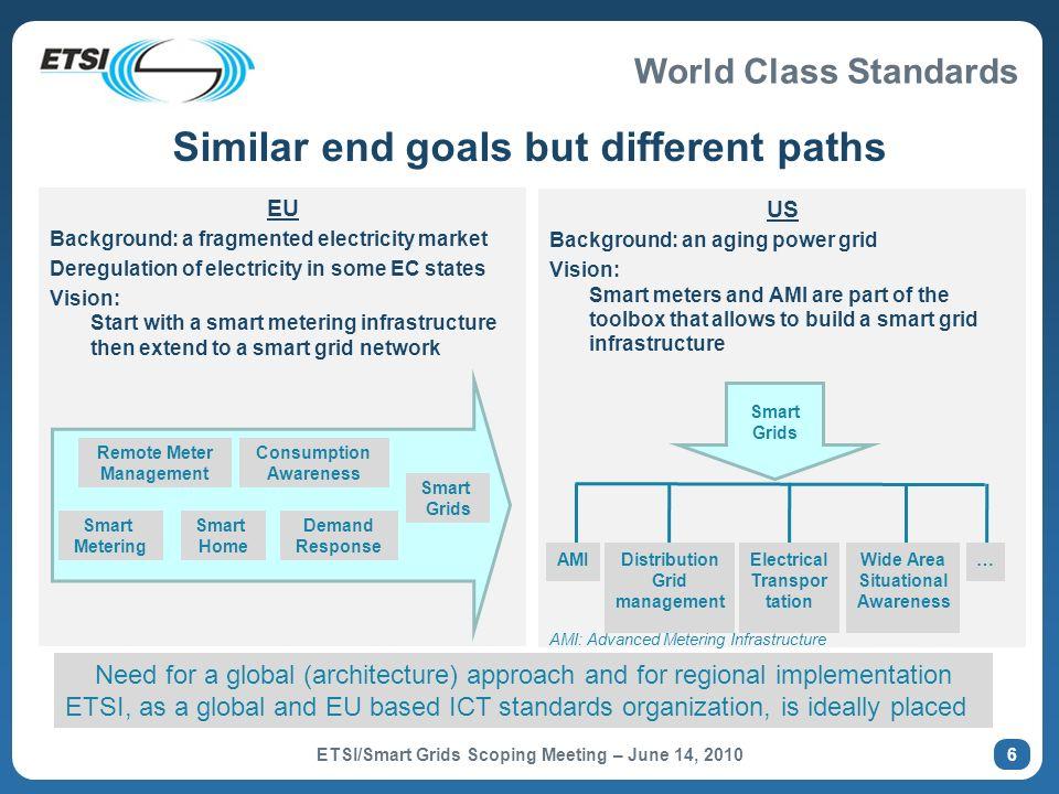 Similar end goals but different paths
