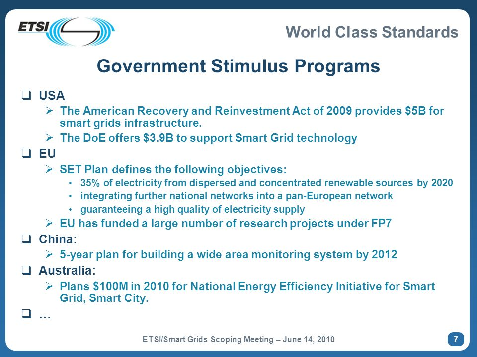 Government Stimulus Programs