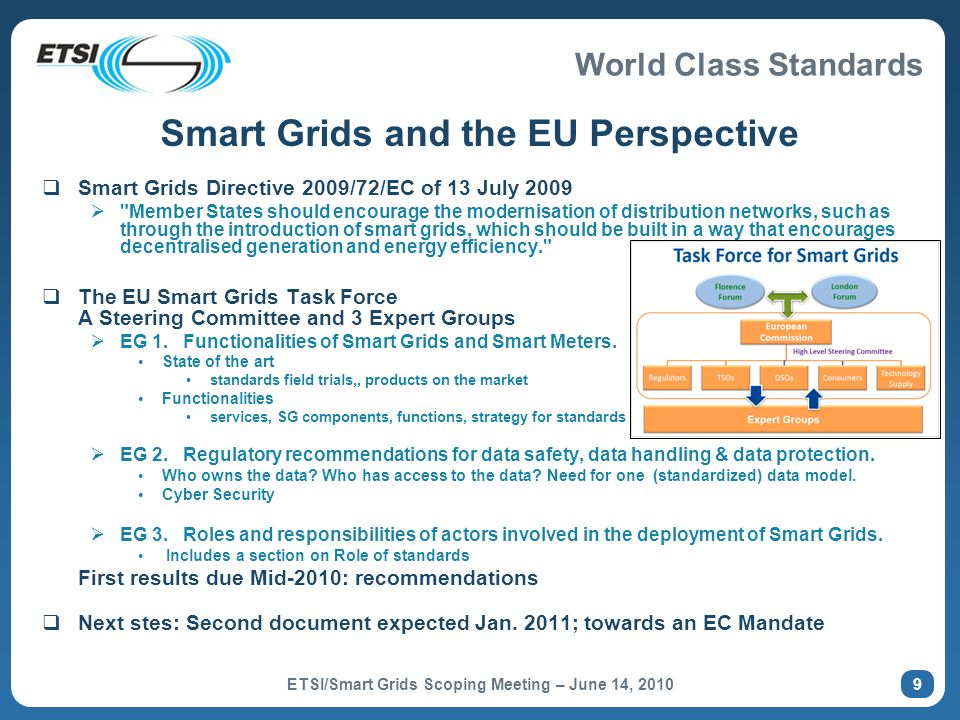 Smart Grids and the EU Perspective