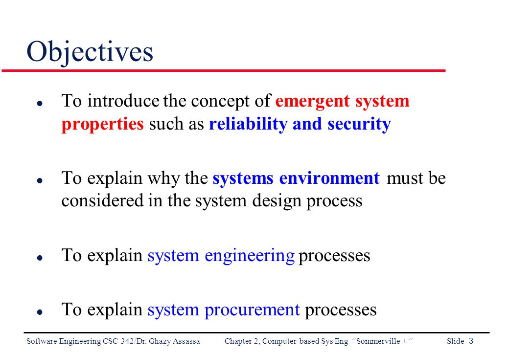 Software Engineering Chapter 2 Computer Based System