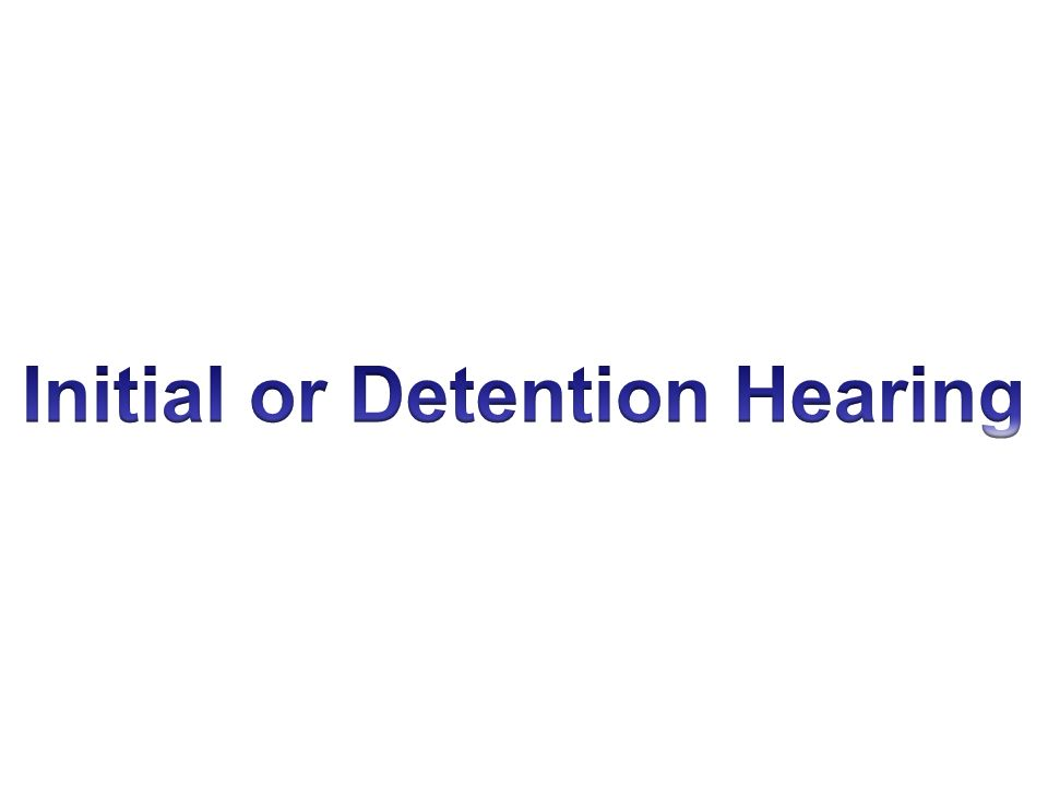 Initial or Detention Hearing
