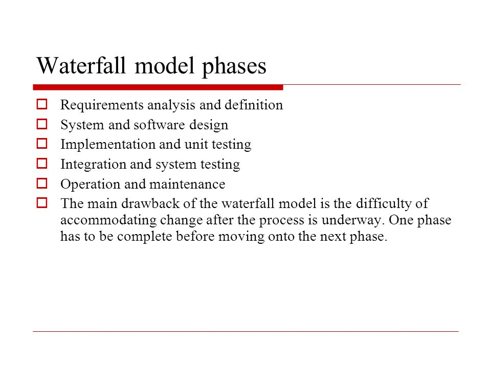 Software processes ppt download for Waterfall phases