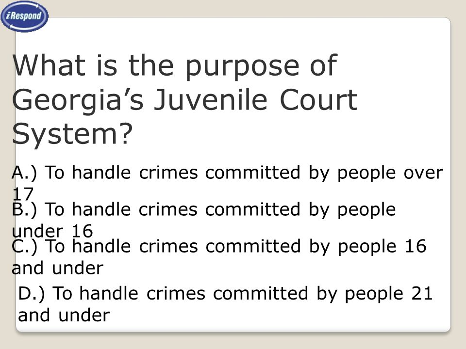 What is the purpose of Georgia's Juvenile Court System