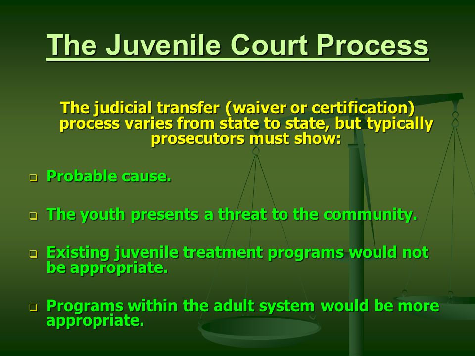 the trend of remanding juveniles to adult court for processing Police arrests and juvenile cautions, 1 january - 31 december 2004  the  report also includes statistics about the adult lower courts (magistrates' courts),   remand cases, for which offence information is not currently included  the  processing of individuals and charges by the various court jurisdictions (that is,  the.