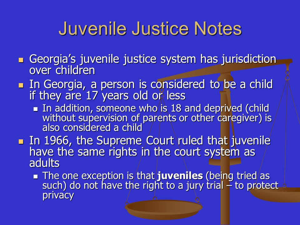 American juvenile justice system