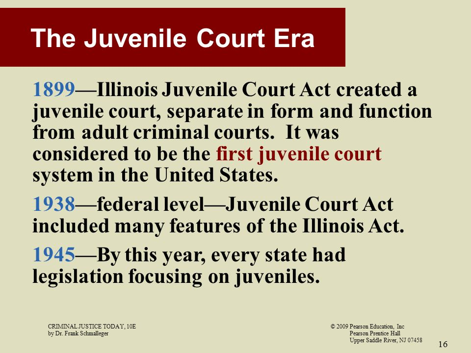 implications of juvenile justice When a juvenile enters the justice system, special rules govern their case offenders typically enter the juvenile justice system if they have not yet reached 18.
