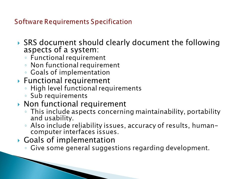 srs software requirement specification template - introduction to software engineering ppt video online