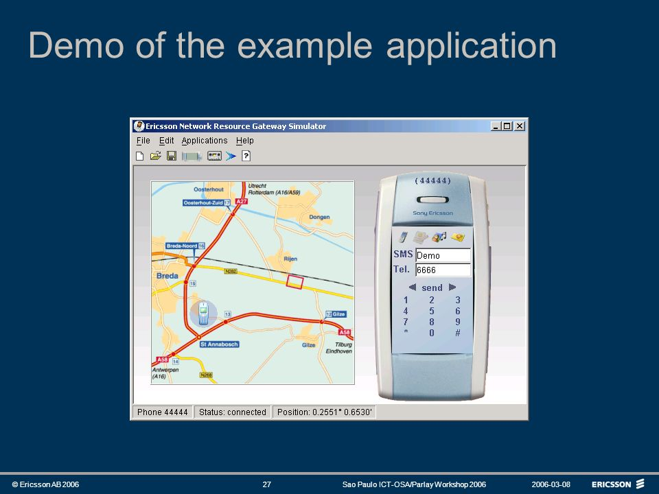 Demo of the example application