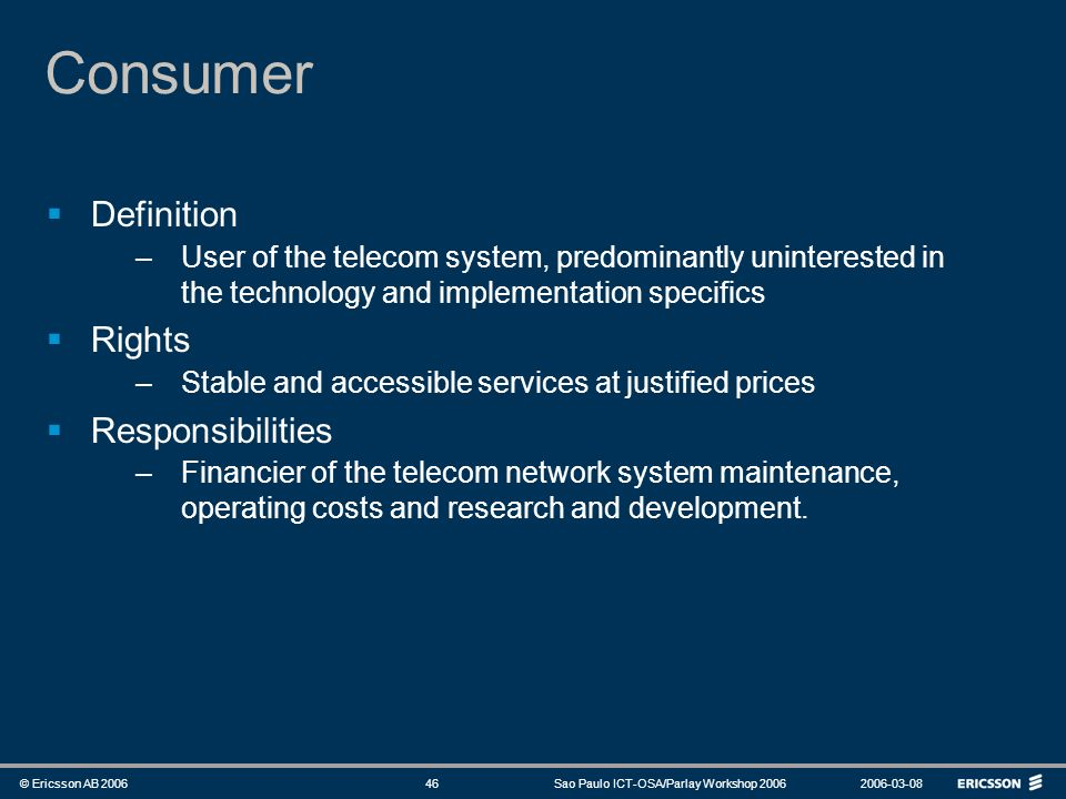 Consumer Definition Rights Responsibilities