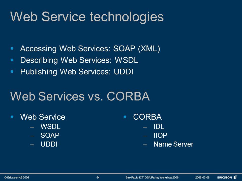 Web Service technologies