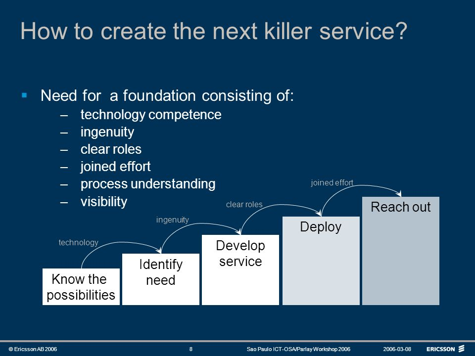 How to create the next killer service