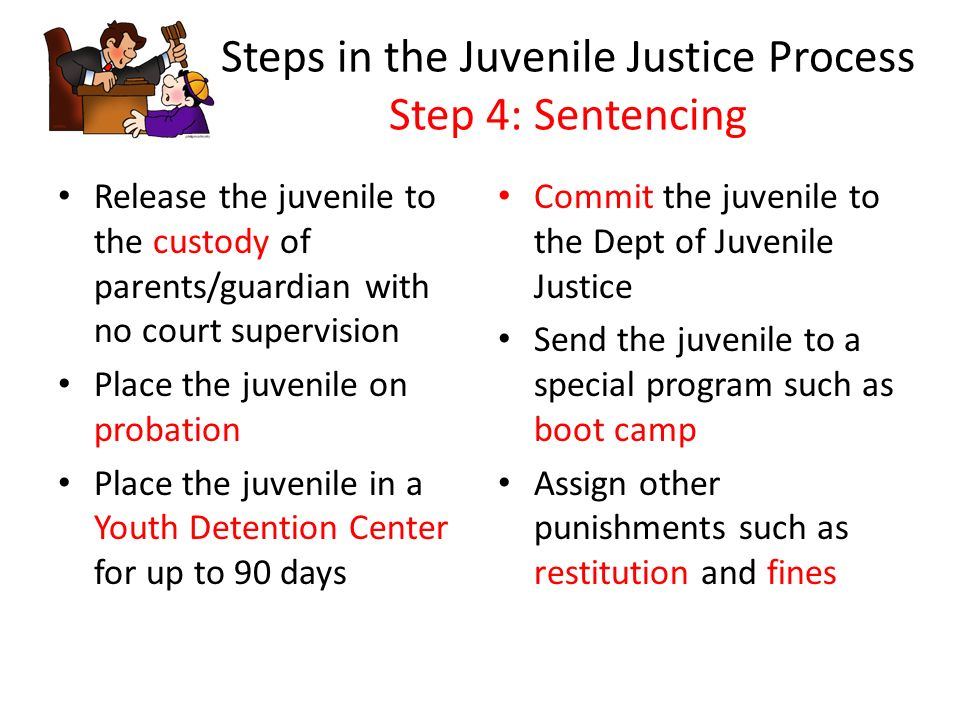 the juvenile justice process Butte county probation juvenile court process our mission: the butte county probation department is committed to enhancing.