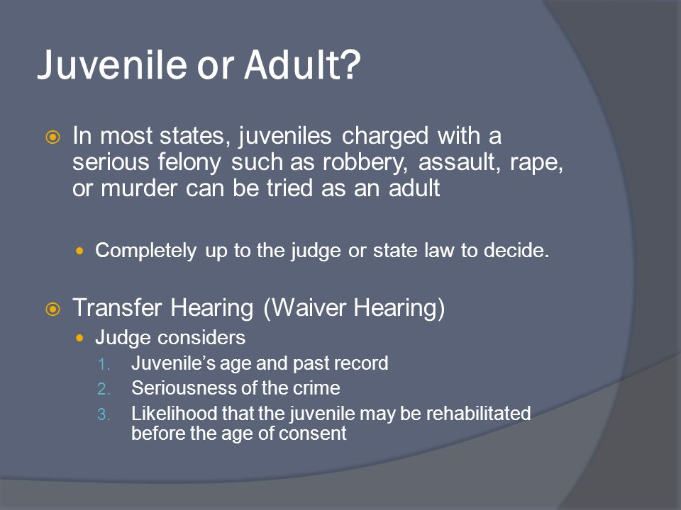 juveniles should not be charged as Why minors should be charged for adult crimes 10 reasons why juveniles should not be tried or sentenced as adults by.
