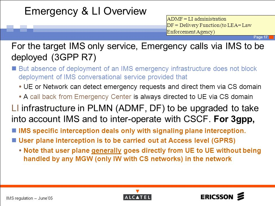 Emergency & LI Overview