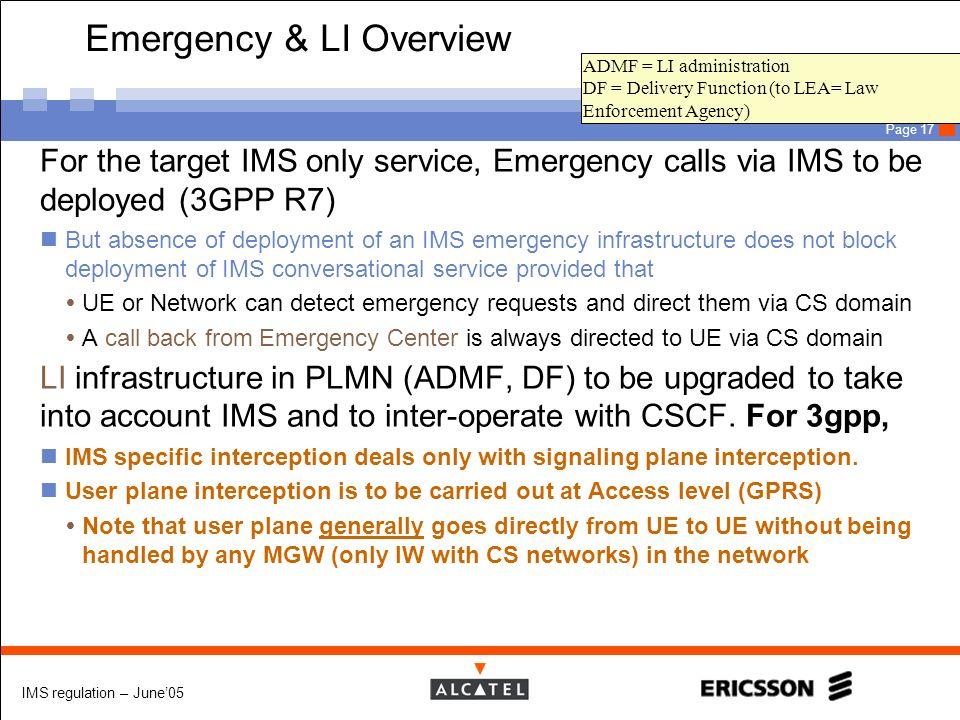Emergency & LI Overview