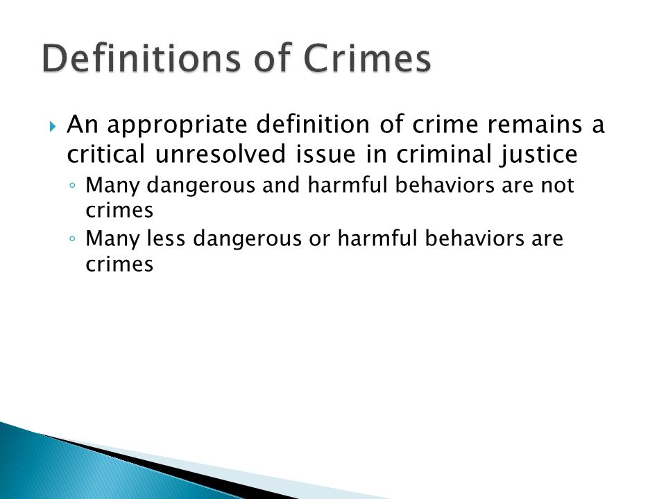an introduction to the issue and the definition of crime Introduction philosophy of law  around a controversial issue that raises important questions for  it is to give a definition of crime,.
