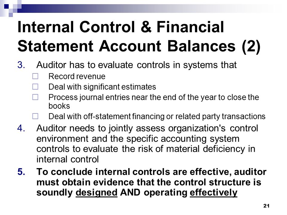 Internal Control Over Financial Reporting Ppt Video
