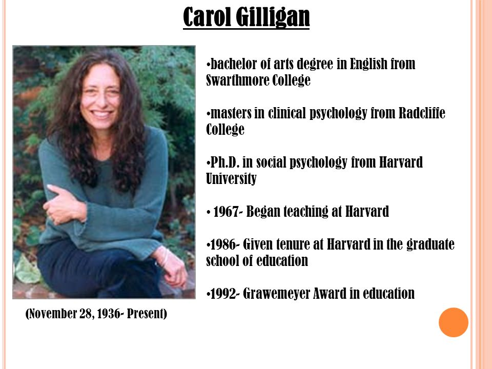 "a review of carol gilligans controversial book psychological theory and womens development Carol gilligan's theory of carol gilligan developed her theory of moral development in gilligan's 1982 book, ""in a different voice: psychological theory."