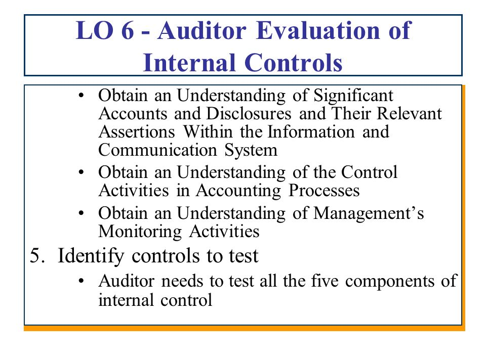 evaluate the application of internal controls to the systems Internal controls for small business internal controls are methods or procedures adopted in a business to:  systems including performance reviews, distribution.