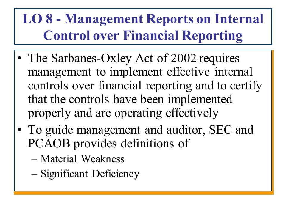 the weakness in internal control over Do material weaknesses point to fraud risk it's not just dodd-frank that has been roundly disparaged in some quarters, sox 404(b)—the requirement to have an auditor attestation and report on management's assessment of internal control over financial reporting—has also recently been much maligned.