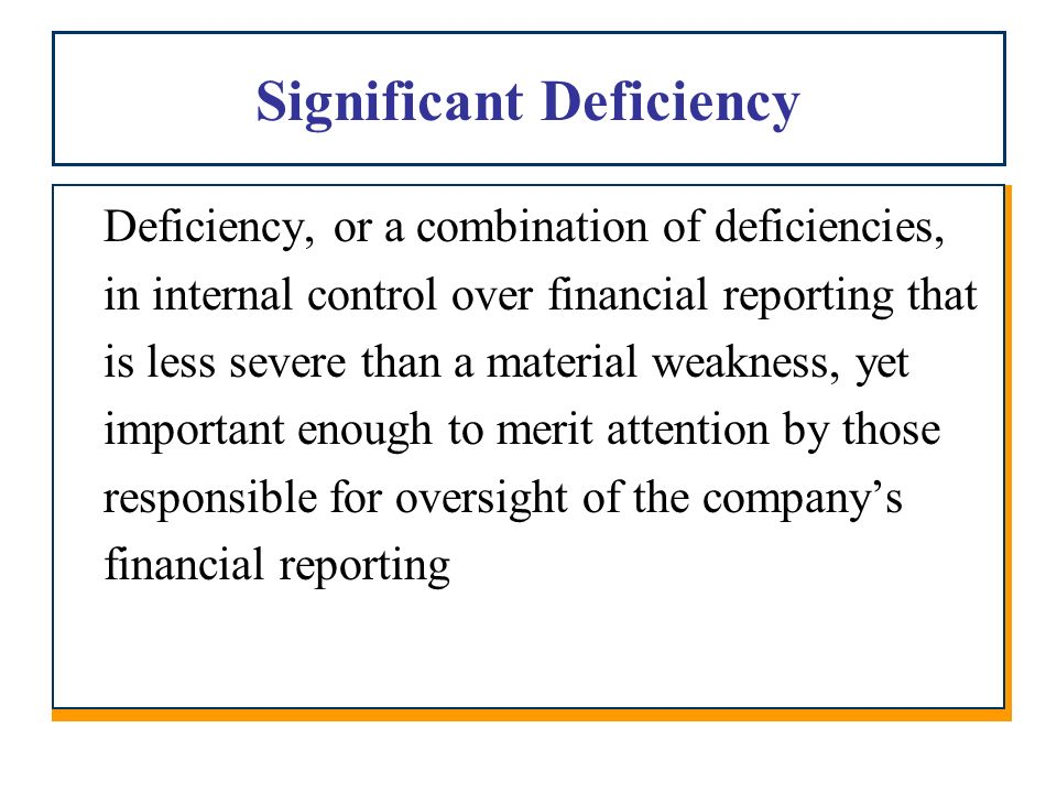 the weakness in internal control over Determinants of weaknesses in internal control over financial reporting and the implications for earnings quality abstract we examine determinants of internal control.