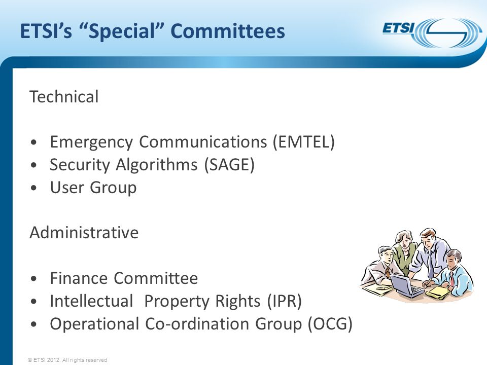 ETSI's Special Committees
