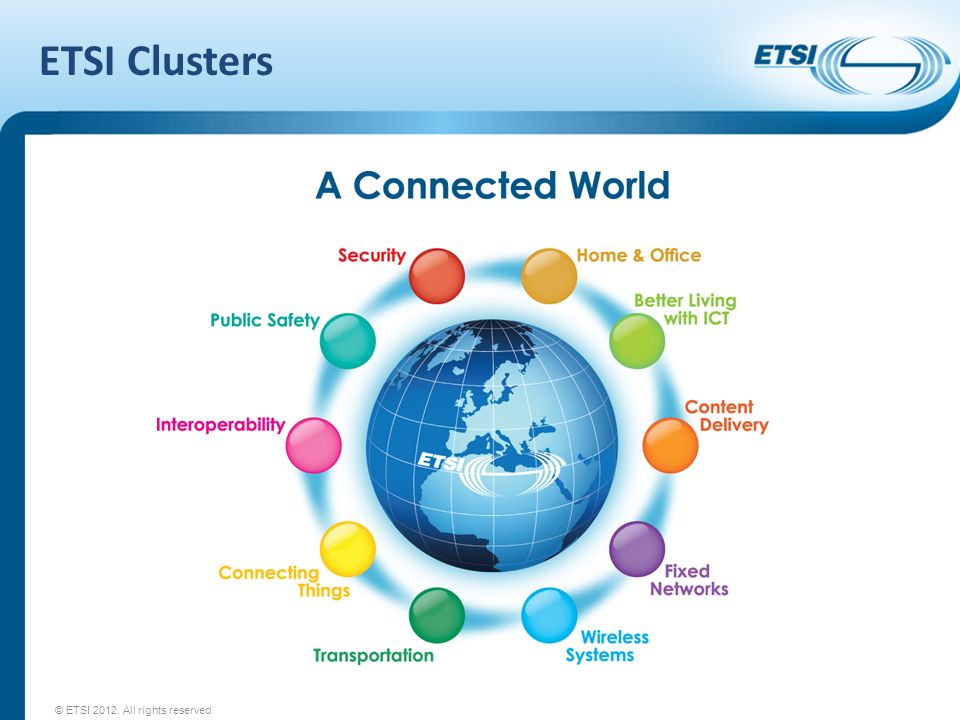 ETSI Clusters © ETSI All rights reserved