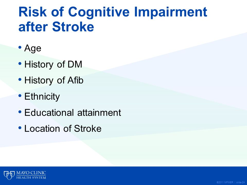 cognitive impairment after stroke The concept of vascular dementia is undergoing revision the multi-infarct model and the alzheimer's model of dementia, usually referred to as 'multi-infarct dementia', are gradually being replaced by a much broader concept of vascular cognitive impairment this conceptual evolution reflects a .