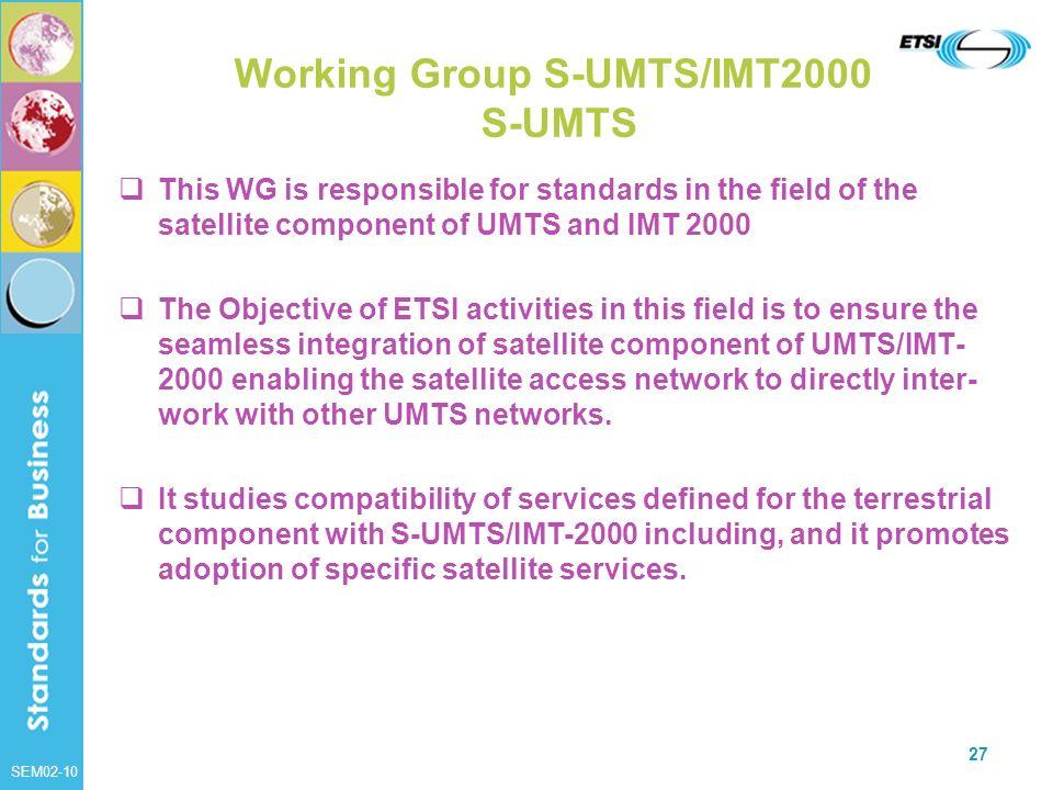 Working Group S-UMTS/IMT2000 S-UMTS