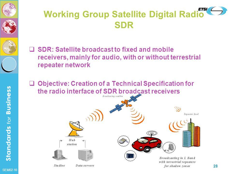 Working Group Satellite Digital Radio SDR