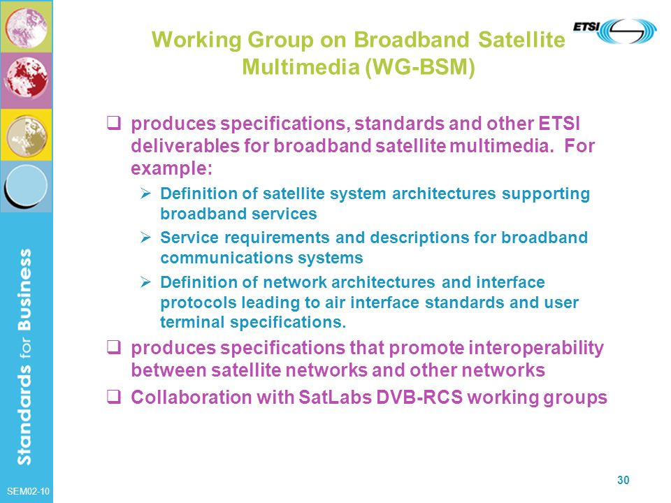 Working Group on Broadband Satellite Multimedia (WG-BSM)